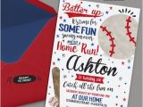 Baseball themed First Birthday Invitations 25 Best Ideas About Baseball Party Invitations On