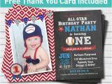 Baseball themed First Birthday Invitations Baseball Birthday Invitation Baby Boy First 1st Birthday