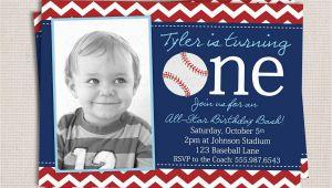 Baseball themed First Birthday Invitations Baseball themed 1st Birthday Party Invitations Home
