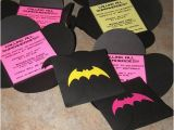Batgirl Birthday Party Invitations 25 Best Ideas About Batgirl Party On Pinterest