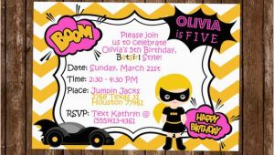 Batgirl Birthday Party Invitations Batgirl Birthday Invitation Batgirl Party Invitation