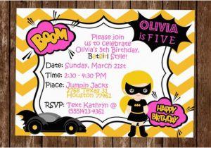 Batgirl Birthday Party Invitations Batgirl Birthday Invitation Batgirl Party Invitation