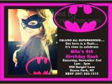 Batgirl Birthday Party Invitations Batgirl Superhero Invitations Birthday Party Ideas
