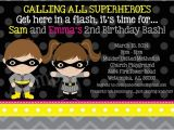 Batgirl Birthday Party Invitations Batman and Batgirl Birthday Invitations Twins Siblings