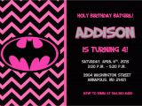 Batgirl Birthday Party Invitations Batman Batgirl Birthday Party Invitation Printable or