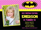 Batgirl Birthday Party Invitations Batman Batgirl Pink Bat Man Bat Girl Birthday Party Invitation