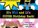 Batgirl Birthday Party Invitations Batman Batgirl Superhero Birthday Invitations Printable