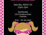 Batgirl Birthday Party Invitations Pink Batgirl Birthday Invitations