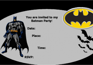 Batman Birthday Invitation Template Party Invitations Best Collection