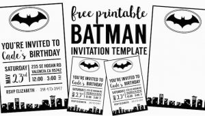 Batman Birthday Invitation Template Free Batman Invitation Template Paper Trail Design