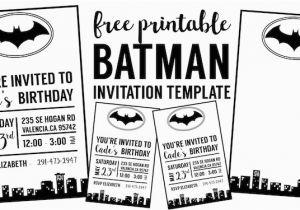 Batman Birthday Invitation Template Backgrounds