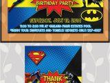Batman Vs Superman Birthday Party Invitations Batman Superman Invitation Batman Superman Birthday