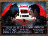 Batman Vs Superman Birthday Party Invitations Batman Vs Superman Birthday Invitation Batman Vs Superman