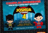 Batman Vs Superman Birthday Party Invitations Batman Vs Superman Birthday Invitation Card Superhero