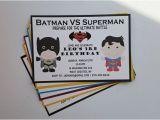 Batman Vs Superman Birthday Party Invitations Batman Vs Superman Birthday Party by 1stimpressioninvites