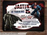 Batman Vs Superman Birthday Party Invitations Batman Vs Superman Invitation Batman Vs by Holidayprintdesign