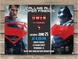Batman Vs Superman Birthday Party Invitations Batman Vs Superman Invitation Batman Vs Superman by