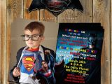 Batman Vs Superman Birthday Party Invitations Batman Vs Superman Superhero by Myprintableparty On Etsy