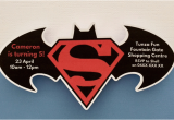 Batman Vs Superman Birthday Party Invitations Personalised Batman Vs Superman Birthday Party Invitation