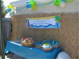Beach theme Birthday Decorations Beach themed 1st Birthday Party Home Party Ideas
