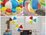 Beach theme Birthday Decorations Kara 39 S Party Ideas Beach Ball themed Birthday Party