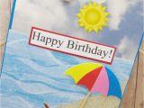 Beach themed Birthday Cards Beach Birthday Card Ocean themed Card Sandy Beach