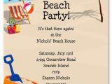 Beach themed Birthday Cards Beach Party Invitation Templates Free Beach theme Ideas