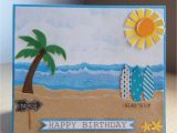 Beach themed Birthday Cards Birthday Card Beach theme Best Happy Birthday Wishes