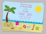 Beach themed Birthday Cards Birthday Card Beach theme Birthday Tale