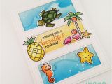 Beach themed Birthday Cards Juana Ambida Lawn Fawn Beach themed Birthday Cards