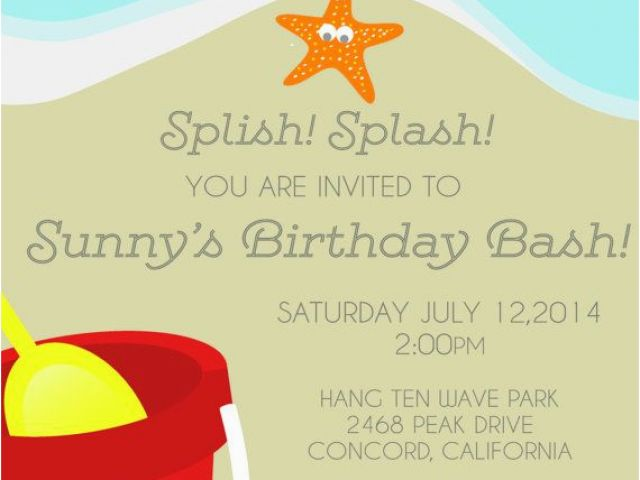 Download By SizeHandphone Tablet Desktop Original Size Back To Beach Themed First Birthday Invitations