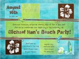 Beach themed First Birthday Invitations Beach themed Birthday Invitations Lijicinu A00982f9eba6