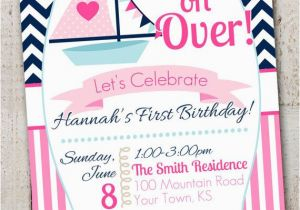 Beach Themed First Birthday Invitations Best 25 Nautical Ideas On Pinterest