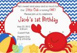 Beach themed First Birthday Invitations Crab Beach theme Personalized Birthday by Partycreations4u