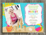 Beach themed First Birthday Invitations Free 1st Birthday Invitations Templates Free Invitation