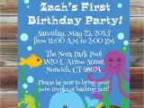 Beach themed First Birthday Invitations Printable Custom First Birthday Ocean Invitation for Boy