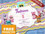 Beanie Boo Birthday Invitations Beanie Boo Birthday Invitation Beanie Boo by topdesignsstudio