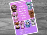 Beanie Boo Birthday Invitations Beanie Boo Birthday Party Invites Custom Made Just for You