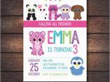 Beanie Boo Birthday Invitations Beanie Boo Party Beanie Boo Invitation Beanie Boo by