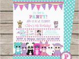 Beanie Boo Birthday Invitations Beanie Boo Party Invitation Front Back Birthday by
