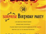 Beatles Birthday Invitations All You Need is Dave Dave S Surprise 50th Birthday Party