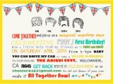 Beatles Birthday Invitations Beatles Party Suite Invites Cake toppers Activity Sheet and