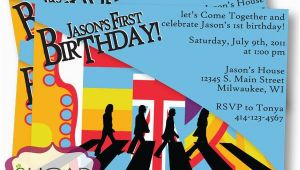 Beatles Birthday Invitations Printable Beatles Inspired Birthday Invitation U Print