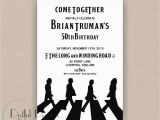 Beatles Birthday Invitations the Beatles Inspired Birthday Party Invitation Printable