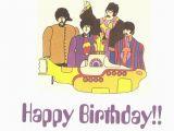 Beatles Happy Birthday Card the Beatles Yellow Submarine Birthday Card