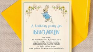 Beatrix Potter Birthday Invitations Beatrix Potter Peter Rabbit Party Invitation