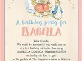 Beatrix Potter Birthday Invitations Flopsy Bunnies Beatrix Potter Birthday Party Invitation