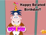 Belated Birthday E Card Belated Birthday Pictures Images Graphics for Facebook