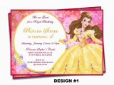 Belle Birthday Party Invitations Beauty and the Beast Invitation Belle Invitation Disney