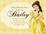 Belle Birthday Party Invitations Belle Birthday Invitations